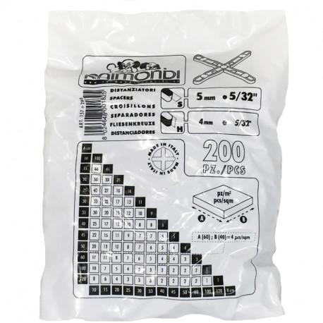 Voegkruisjes 5mm (200st per zak)