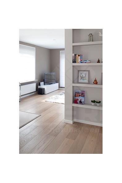 fineerparket, parket, midden grijs, hout, landelijke woning, slaapkamers, zwevend