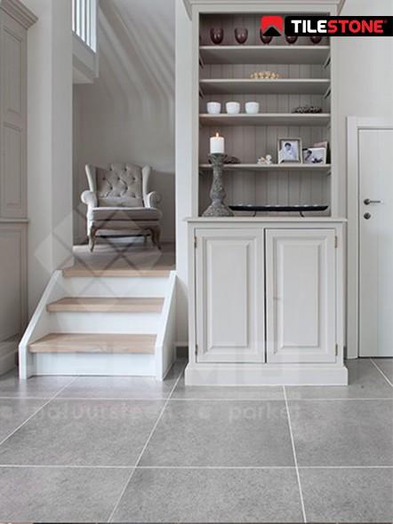 keramische vloertegel, vloertegel, grijs, imitatie natuursteen, livingtegel, Tilestone