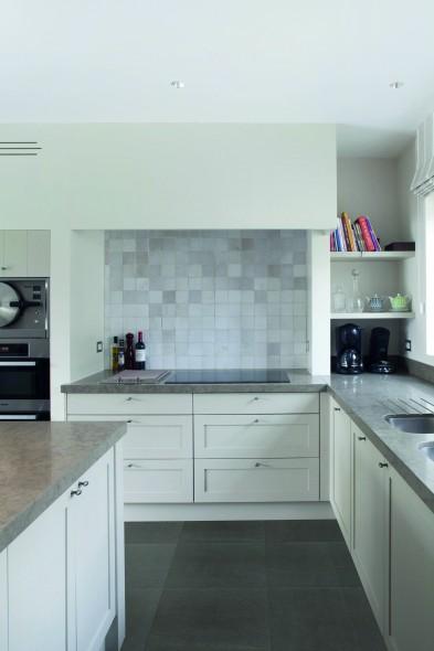 keramische vloertegel, vloertegels, midden grijs, imitatie beton, keukentegel, Tilestone