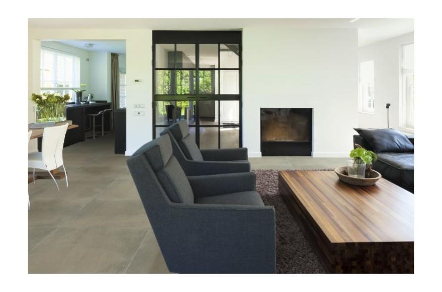 keramische vloertegel, vloertegels, midden grijs, volkeramisch, beton, industriële look, Ceraload