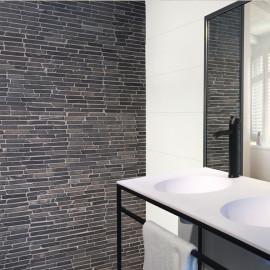natuursteen mozaïek, midden grijs, impermo, landelijk, strak