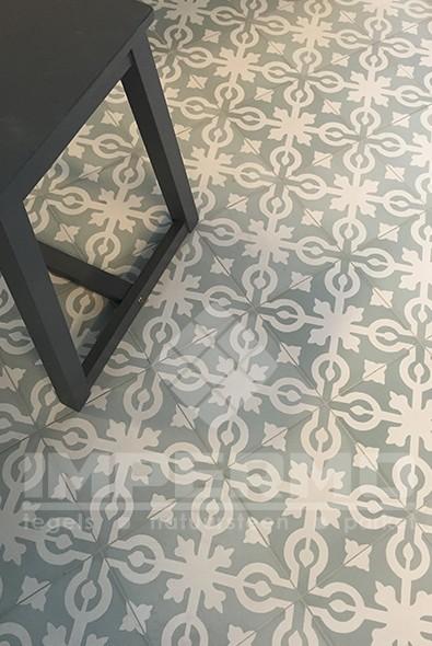 carrelage en ciment, carrelage à motif, multicouleur, dessin, retro