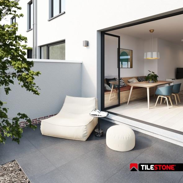 carrelage terrasse en céramique, carrelages terrasse, gris, tilestone, impermo